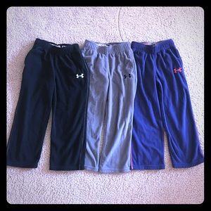 3 pairs of Under Armour Toddler Boys Fleece Pants